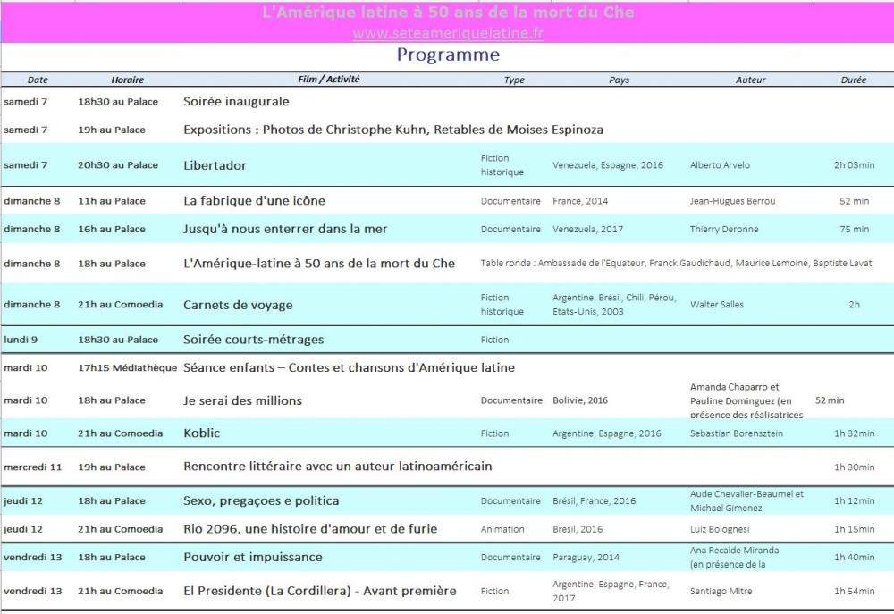 Programme 11 èmes Rencontres